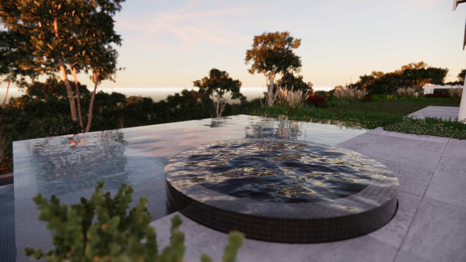 infinity pool and spa design